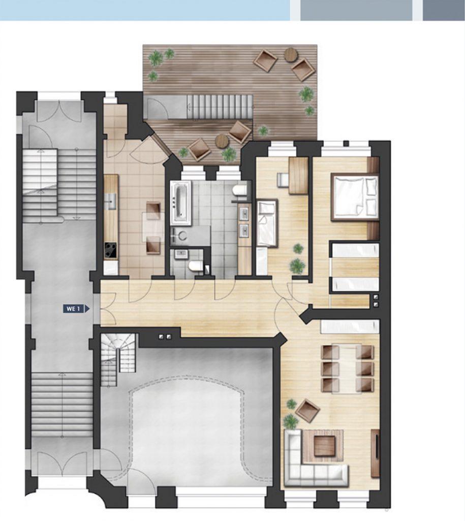 ja14 jahnallee 14 eigentumswohnungen im leipziger waldstra enviertel wohnung 01 hp rechts. Black Bedroom Furniture Sets. Home Design Ideas