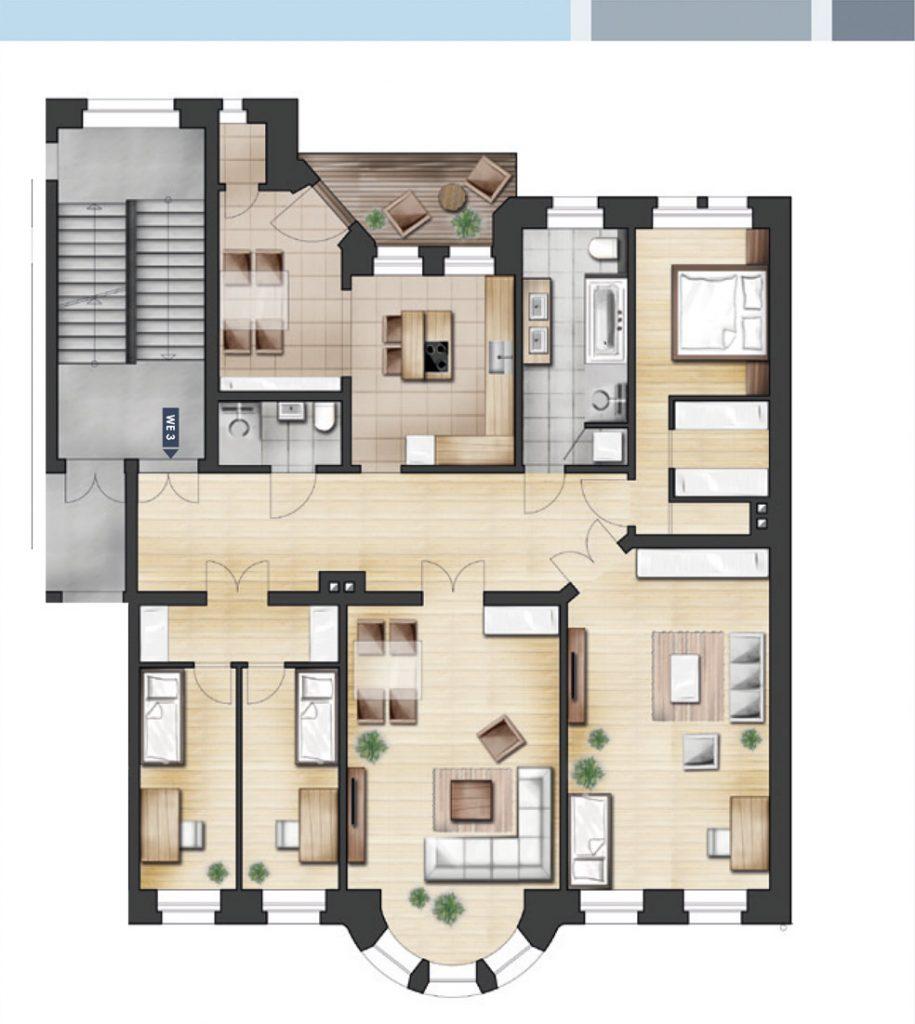 ja14 jahnallee 14 in leipzig wohnung 03 1 og links. Black Bedroom Furniture Sets. Home Design Ideas