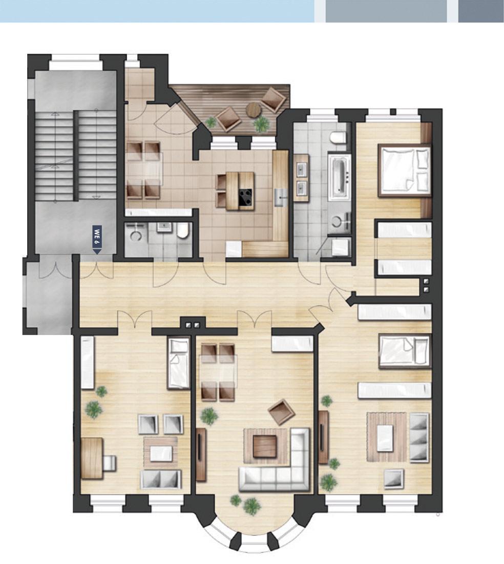 ja14 jahnallee 14 eigentumswohnungen im leipziger waldstra enviertel wohnung 06 2 og links. Black Bedroom Furniture Sets. Home Design Ideas
