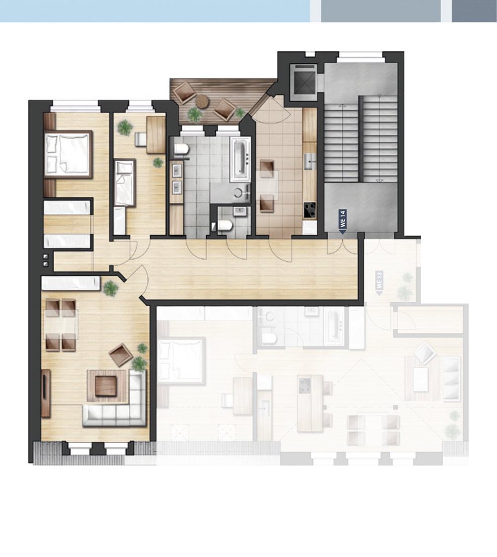 ja14 jahnallee 14 eigentumswohnungen im leipziger. Black Bedroom Furniture Sets. Home Design Ideas